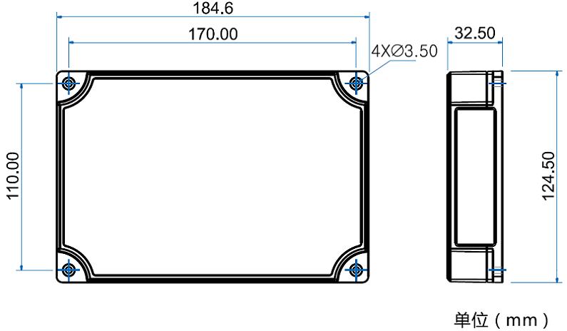门禁控制器尺寸规格图