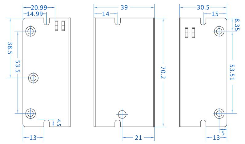 低功耗5V电源尺寸规格图
