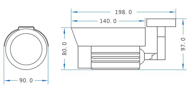 IPC摄像机尺寸图